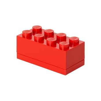Cutie depozitare LEGO® Mini Box, roșu imagine