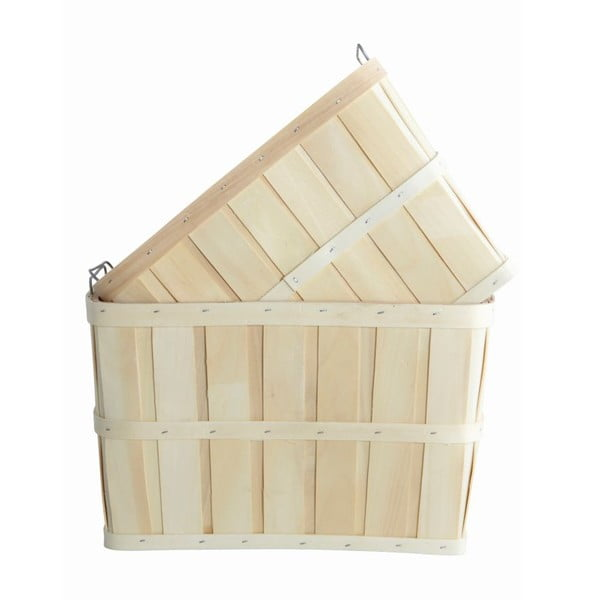 Sada 2 dřevěných košíků House Doctor Storage
