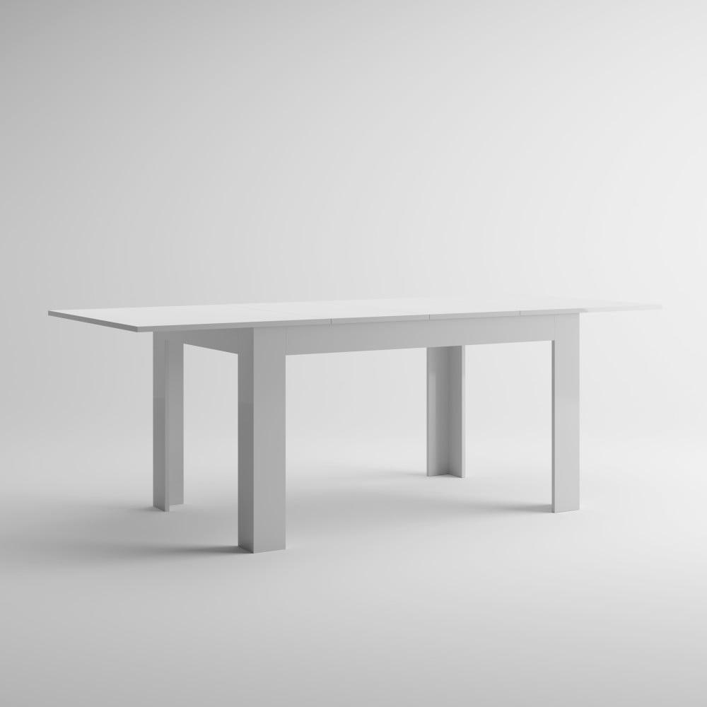 Bílý rozkládací jídelní stůl MobiliFiver Easy, délka 140-220 cm