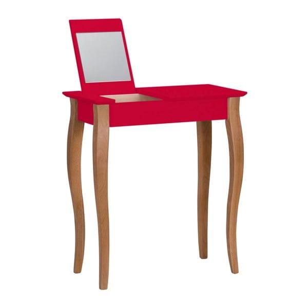 Lillo piros fésülködőasztal tükörrel, szélesség 65 cm - Ragaba