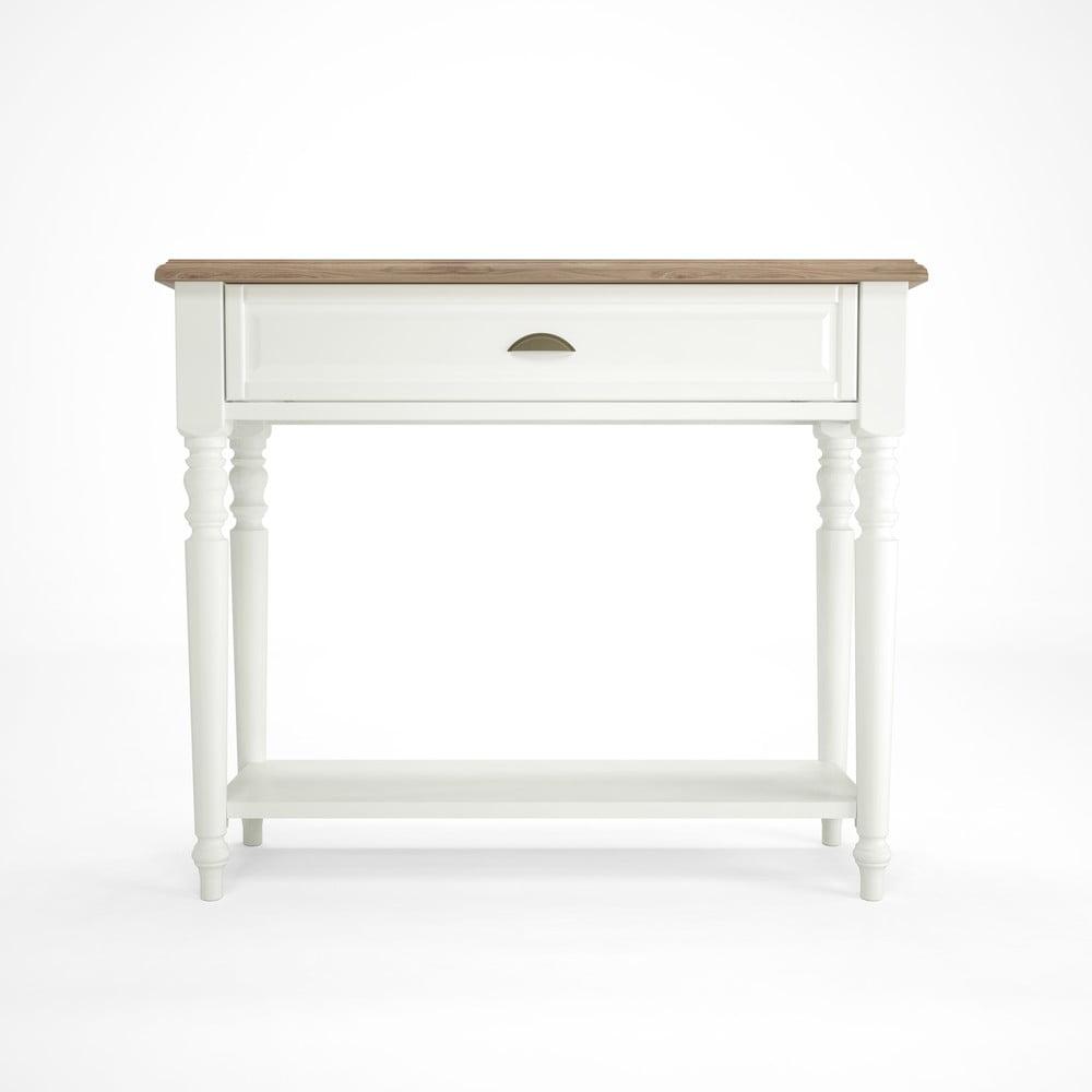 Bílý dřevěný konzolový stolek Artemob Campton Artemob