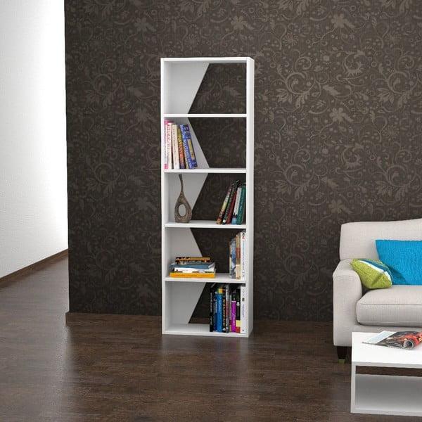 Knihovna Bro 168x54 cm, bílá