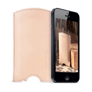 Kožený obal na iPhone 5/5s Cream
