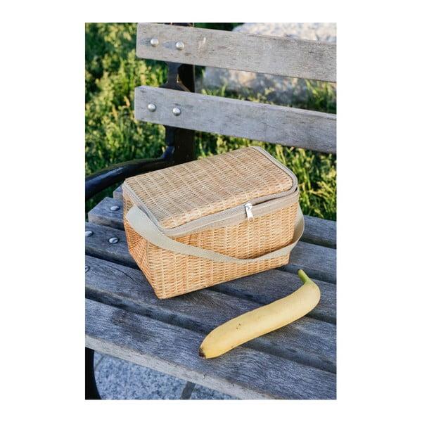 Cutie termoizolantă pentru gustări Kikkerland Wicker