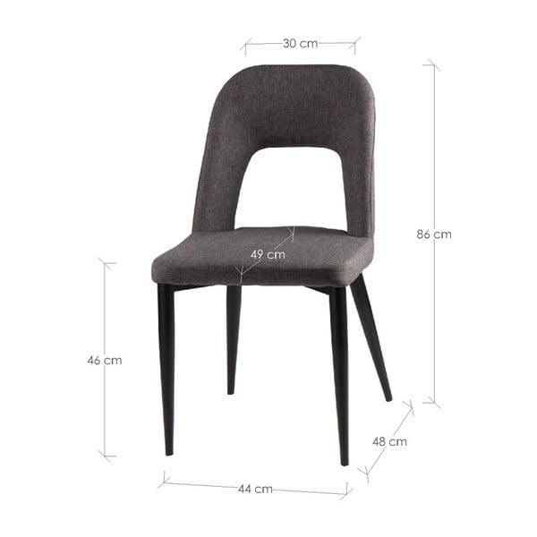 Set 2 scaune sømcasa Anika, albastru închis