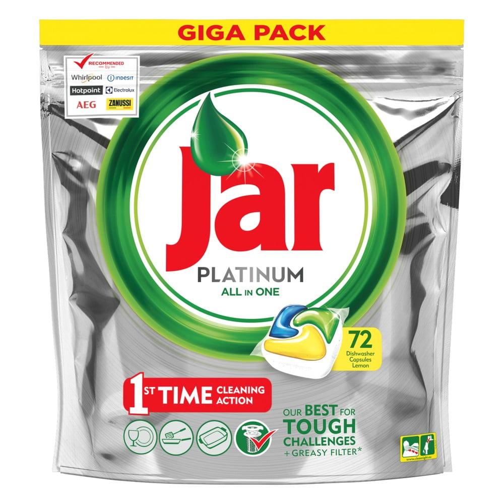 Kapsle do myčky Jar Platinum, 72ks