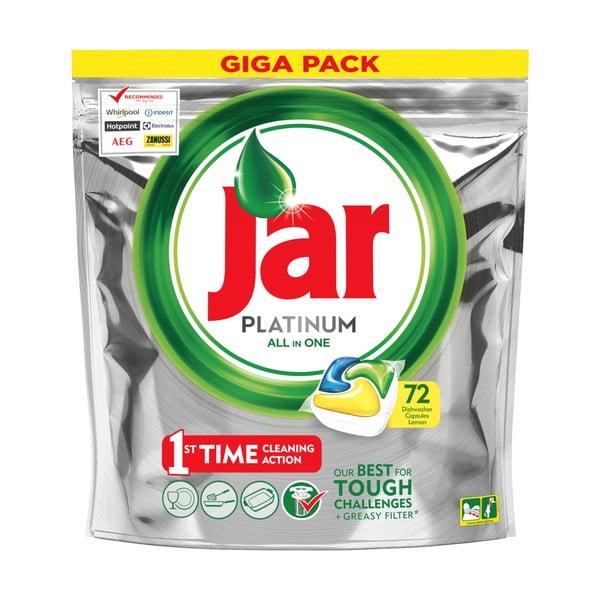Detergent tip capsule pentru mașina de spălat vase Jar Platinum, 72 buc.