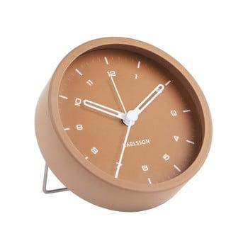 Ceas cu alarmă Karlsson Tinge, ø 9cm, maro caramel imagine