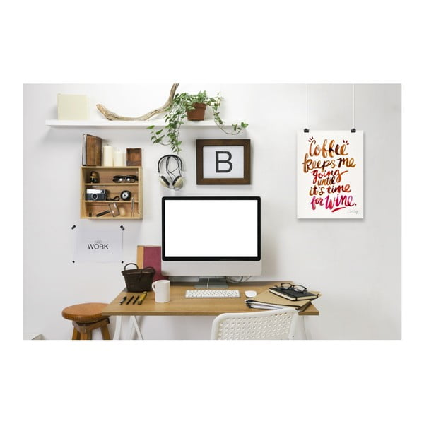 Poster Americanflat Coffee And Wine, 30 x 42 cm