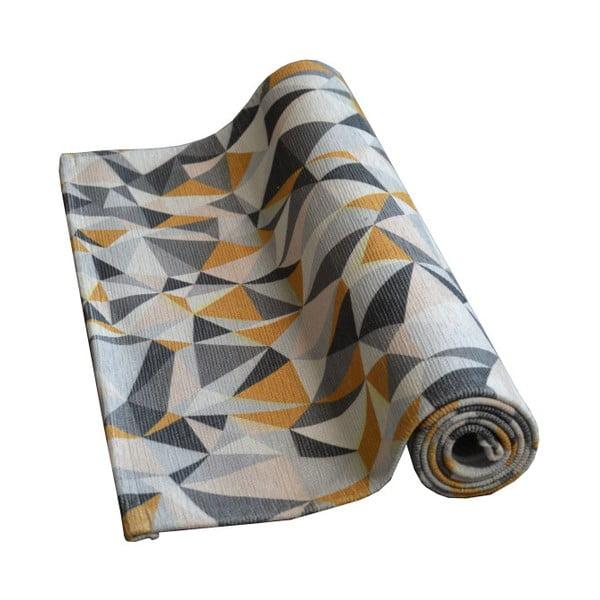 Covor Floorita Windows Grey Ochre, 60 x 190 cm