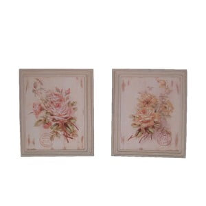 Sada 2 obrazů Antic Line Roses, 25,5x30,5cm
