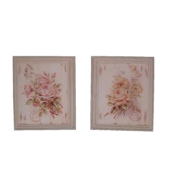 Set 2 tablouri Roses, 25,5x30,5cm