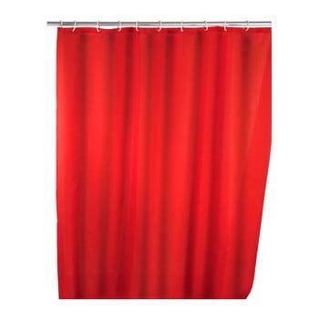 Perdea duș Wenko Puro, 180 x 200 cm, roșu imagine