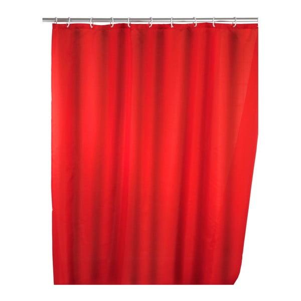 Perdea duș Wenko Puro, 180 x 200 cm, roșu