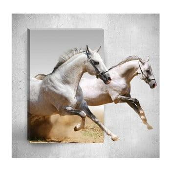 Tablou de perete 3D Mosticx Horses, 40 x 60 cm