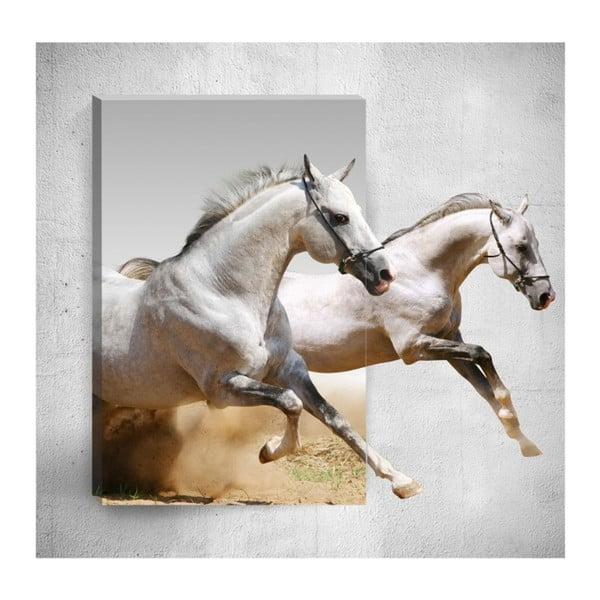 Horses 3D fali kép, 40 x 60 cm - Mosticx