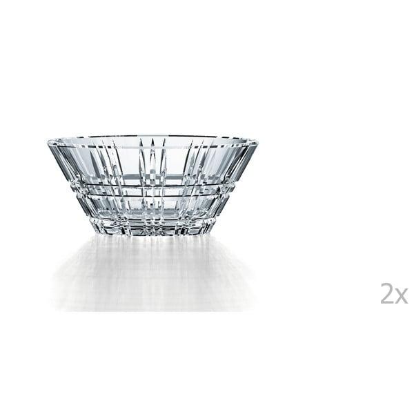 Sada 2 mís z křišťálového skla Nachtmann Square Bowl Set, 15 cm