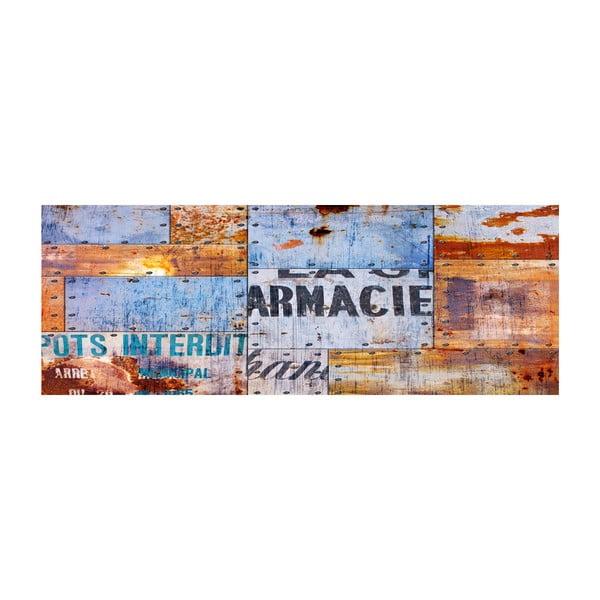 Vinylový koberec Planchas Metalicas, 50x140 cm