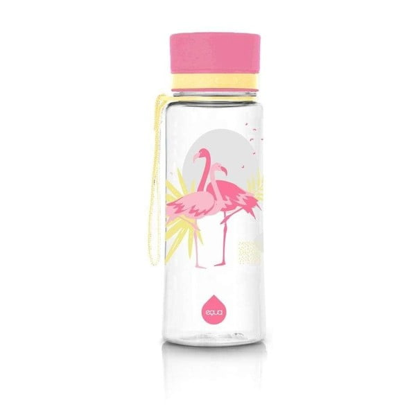 Różowa butelka Equa Flamingo, 400 ml