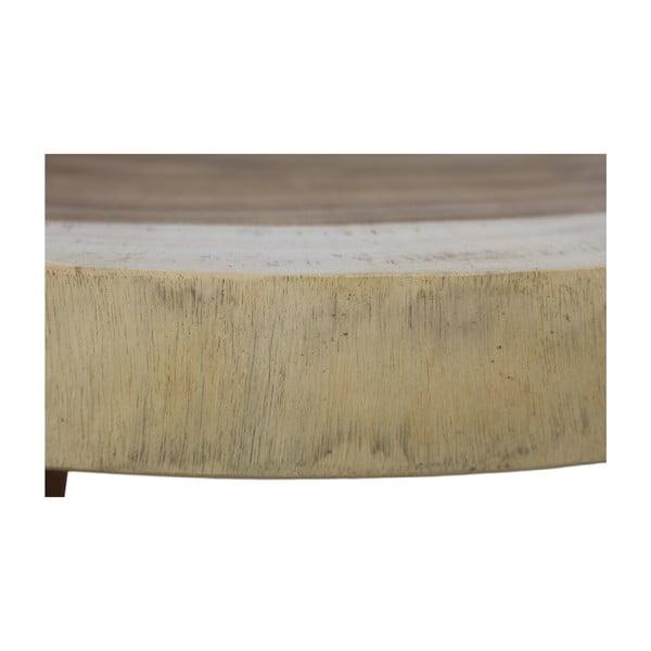 Masă auxiliară din lemn de mungur HMS collection Lowe, ⌀ 40 cm