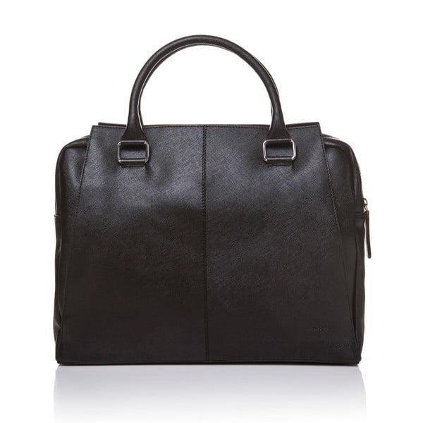 Kožená kabelka do ruky Marta Ponti Sandy, černá