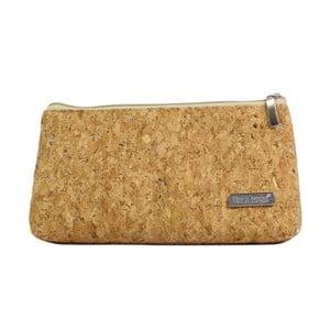 Hořčicově hnědá kosmetická taštička Dara bags Baggie Middle No.750