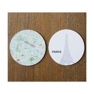 Sada 10 podtácků Design Ideas MapCoasters Paris
