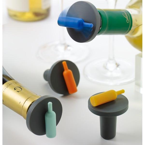 Sada 4 špuntů do vína Spin-The-Bottle