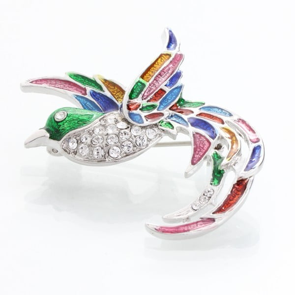 Brošňa s krištáľmi Swarovski Elements Laura Bruni Bird