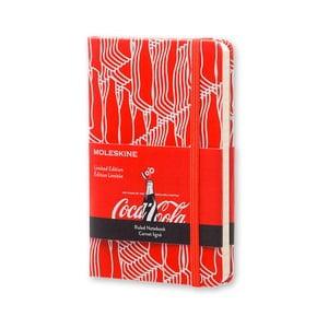 Zápisník Moleskine Coca-Cola, malý, linkovaný