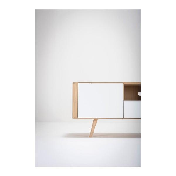 Comodă TV din lemn de stejar Gazzda Ena Two, 160x42x60cm