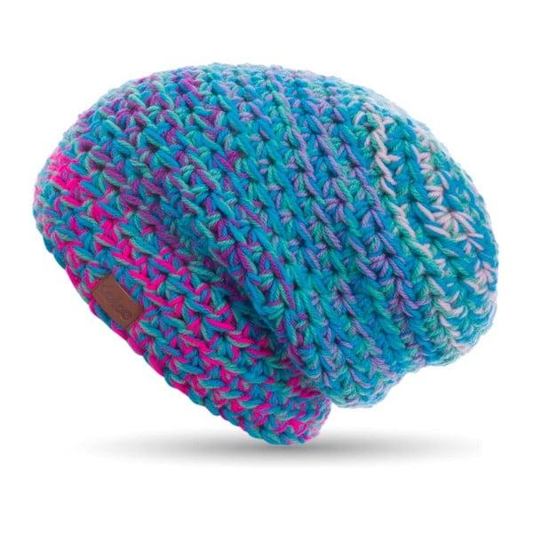 Modrá ručne háčkovaná čiapka DOKE Twister