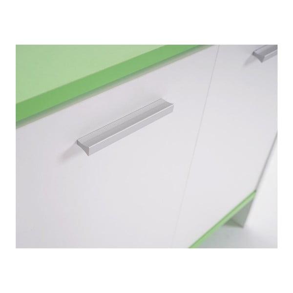Koupelnová skříňka Sonoma White/Green, 28x60x56 cm