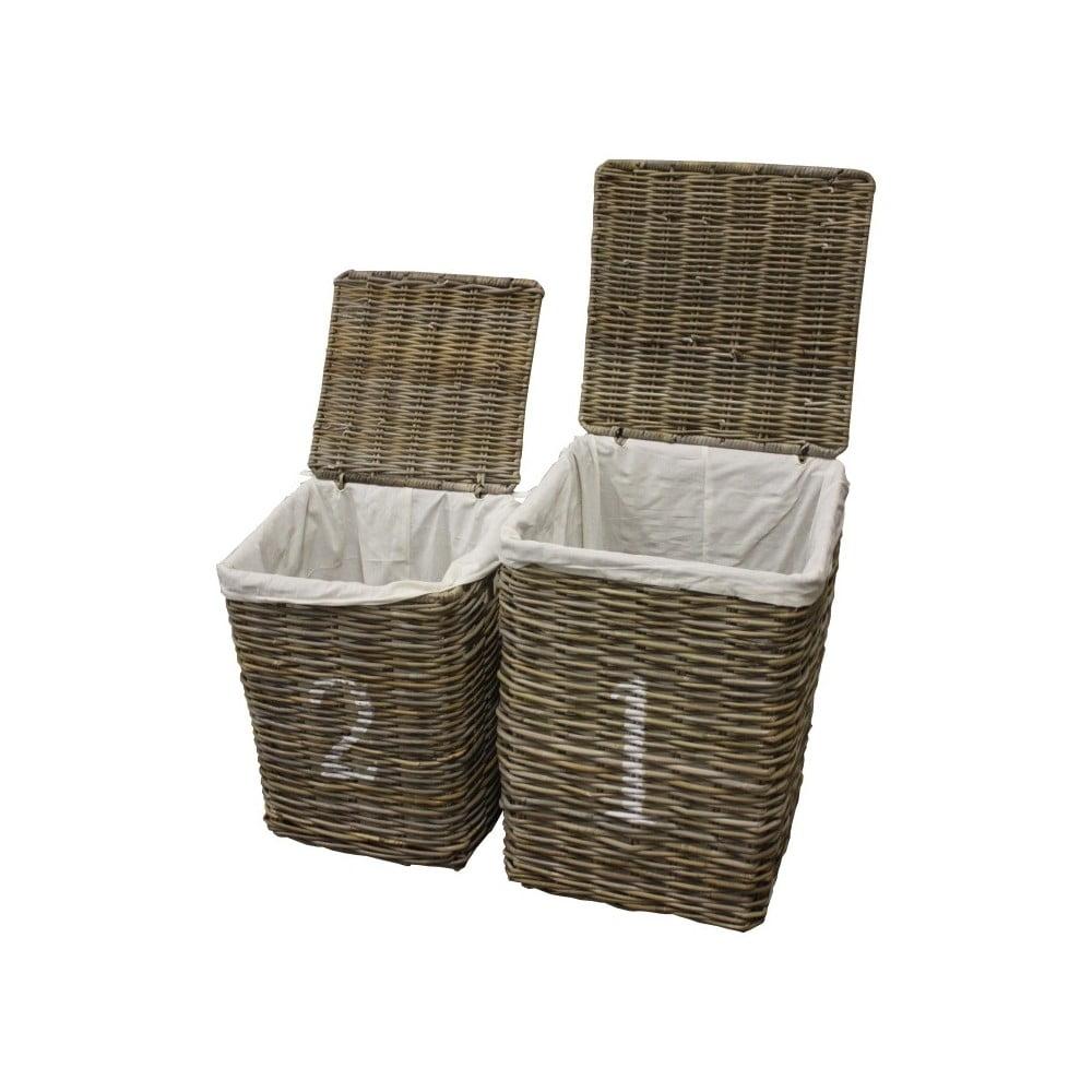 Sada 2 košů na prádlo z koboo ratanu HSM collection Laundry