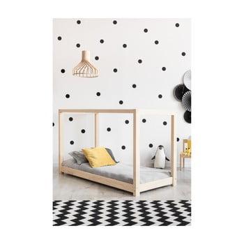 Cadru pat din lemn de pin, în formă de căsuță Adeko Mila KM, 80 x 160 cm