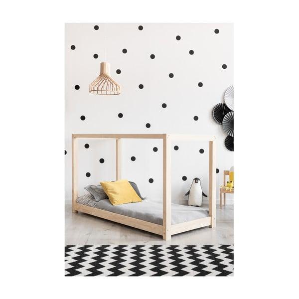 Cadru pat din lemn de pin, în formă de căsuță Adeko Mila KM, 100 x 190 cm