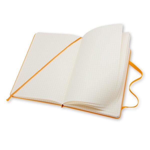 Zápisník Moleskine Hard 21x13 cm, žlutý + čtverečkované stránky