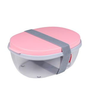 Salátový box s růžovým víkem Rosti Mepal Ellipse