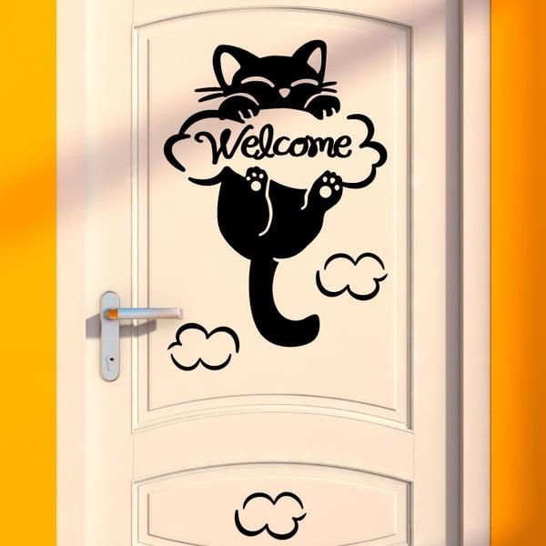 Autocolant Fanastick Cat, 10 x 10 cm
