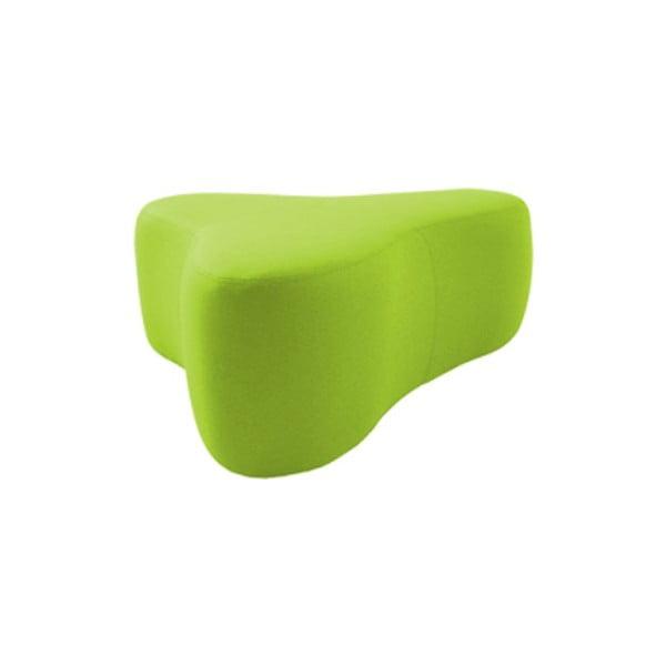 Světle zelený puf Softline Chat Valencia Lime, délka 90 cm