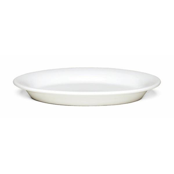 Bílý kameninový talíř Kähler Design Ursula, 18 x 13 cm