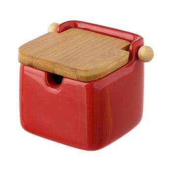 Recipient ceramic pentru sare Unimasa, 250 ml, roșu imagine