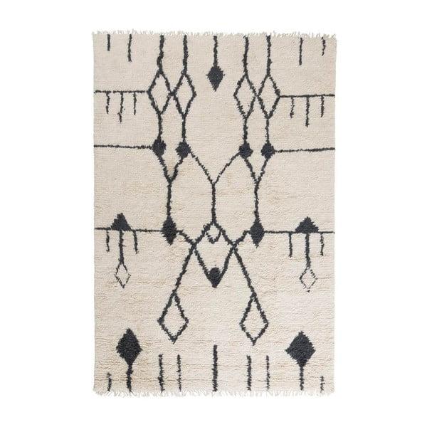 Vlněný koberec Aragon, 200x300 cm, bílý