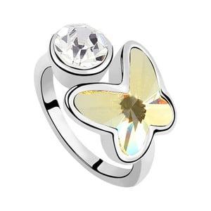 Prsten s krystaly Swarovski Rise Vanilla, velikost 52