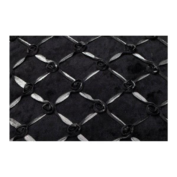 Černý povlak na polštář Mauro Ferretti Roselline Nero, 40x40cm