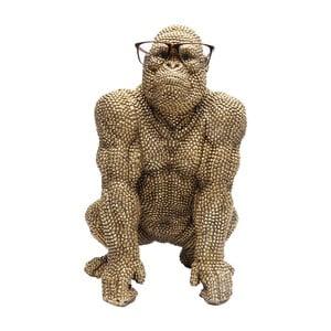 Statuetă decorativă Kare Design Gorilla, înălțime46 cm, auriu