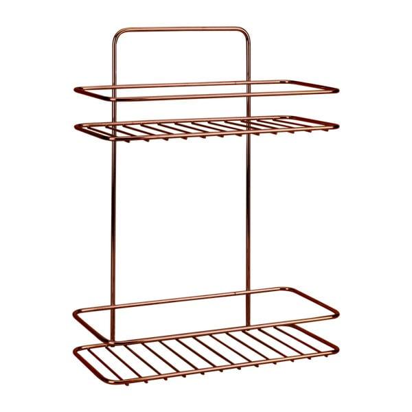 2-poziomowa półka łazienkowa Metaltex Copper