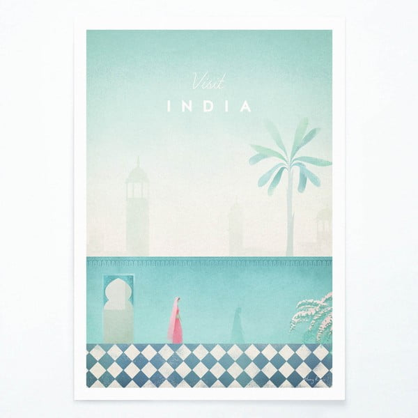 Plagát Travelposter India, A3