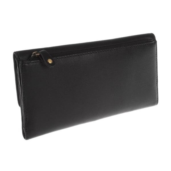 Dámská kožená peněženka Imogen Black Leather Purse