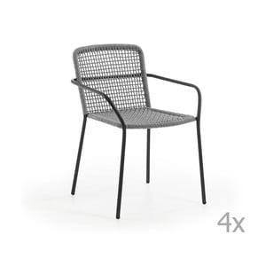 Set 4 scaune de grădină La Forma Boomer, gri